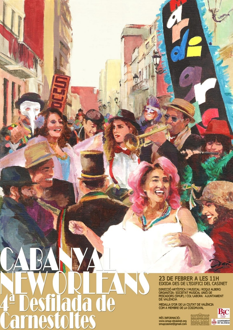 "Come and party at the ""Cabanyal – New Orleans"" Carnival on Sunday, 23rd of February!"